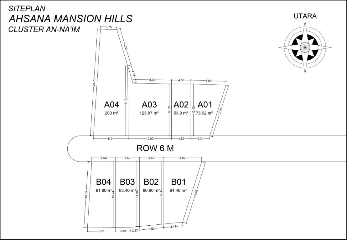 Siteplan An-Naim Ahsana Mansion Hills