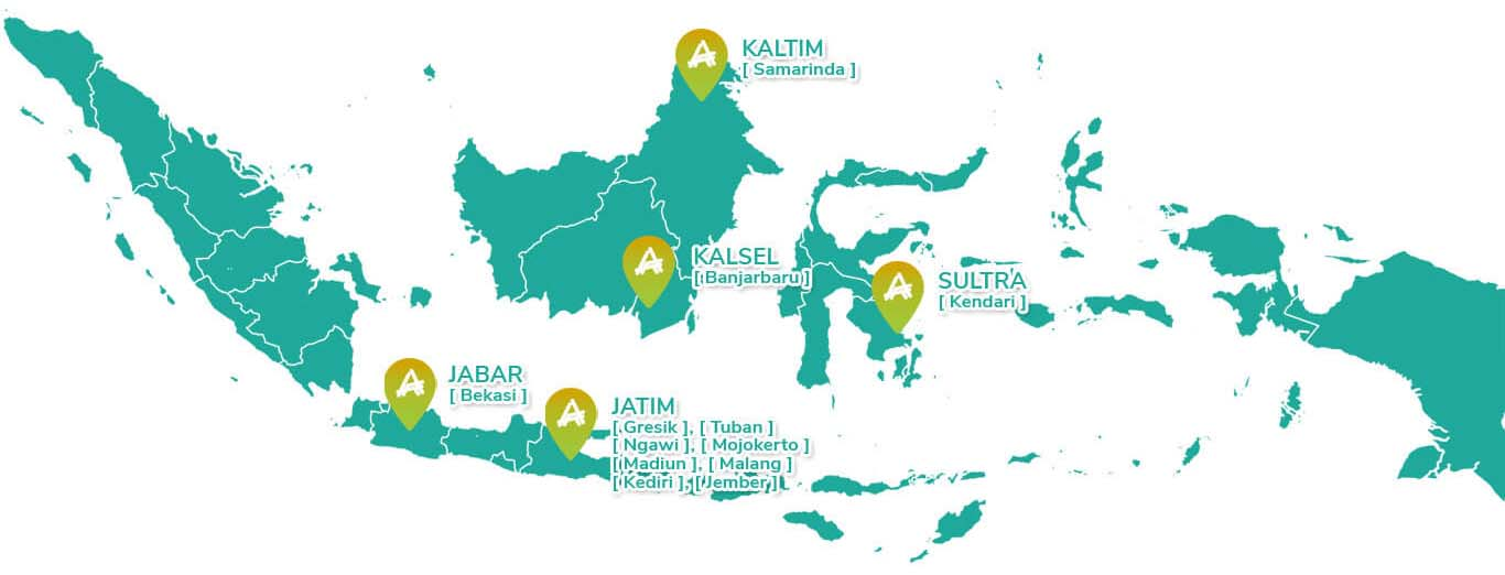 Peta Perumahan Ahsana Property Syariah di Indonesia